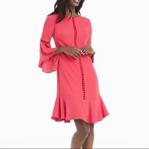 White House Black Market Bell-Sleeve Shift Dress